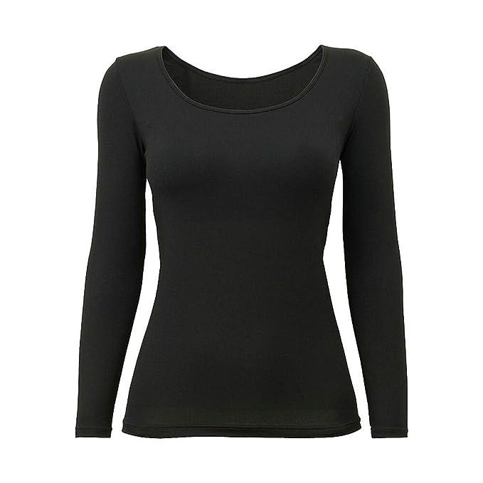 Amazon.com: Oulinect - Camiseta de manga larga para mujer ...