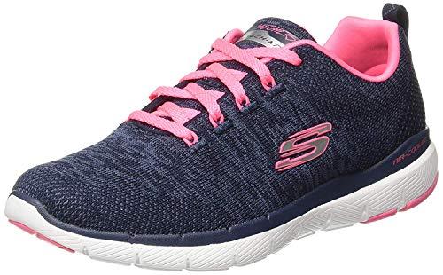 Skechers Women's Flex Appeal 3.0 Trainers, (Black Hot Pink BKHP), 9
