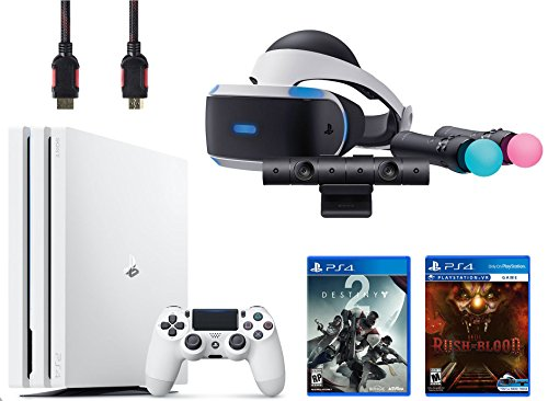 PlayStation VR Start Bundle 5 Items: VR Start Bundle,PS 4 Pro 1TB Console - Destiny 2,VR game disc PSVR Until Dawn: Rush of Blood by Sony VR
