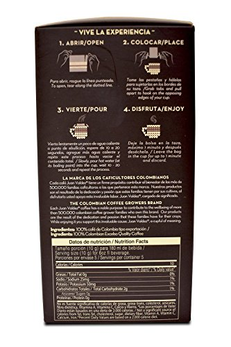 Juan Valdez Balanced Huila Drip Coffee, 50 Gram (Pack of 6) by Juan Valdez (Image #2)