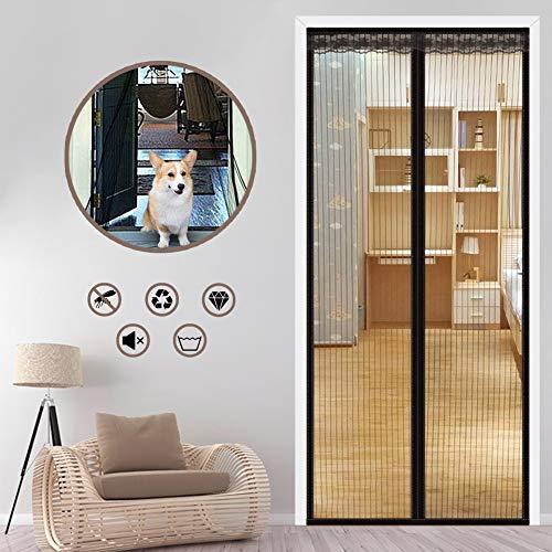 YUHEN Magnetic Screen Door with Durable Fiberglass Mesh Curtain Black, for Patio, Balcony,Garage, Heavy Duty, Net for…