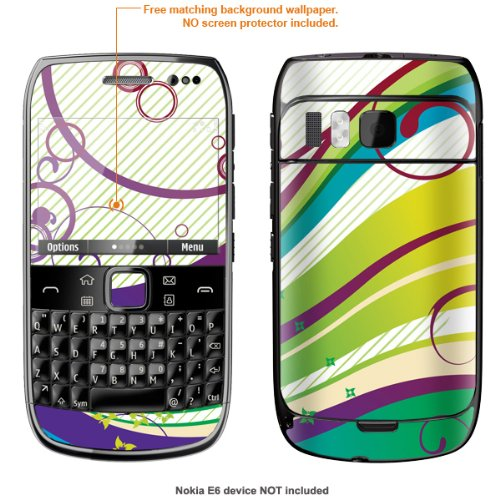 Protective Decal Skin STICKER for Nokia E6 case cover E6-486