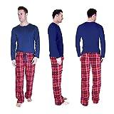 Cherokee Men's 2 Piece Pajama Set, Tartan Plaid, S