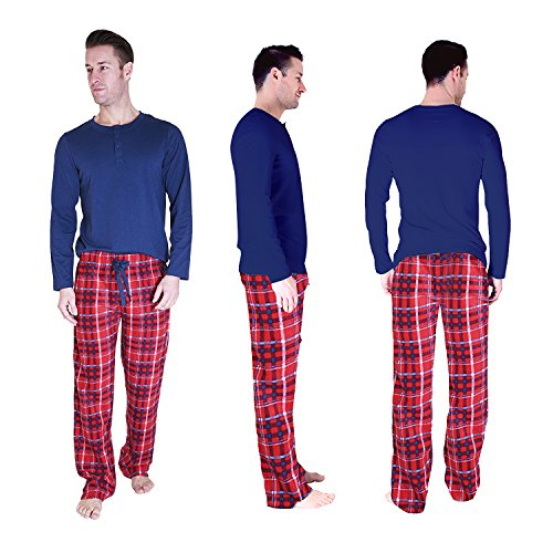 Cherokee Men's 2 Piece Pajama Set, Tartan Plaid, S by Cherokee