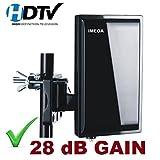 IMega SH7200 DIGITAL HDTV UHF VHF DTV OUTDOOR ANTENNA + COAXIAL CALBE + HD TV AMP