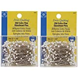 Dritz Quilting Extra Fine Glass Head Pins , 250 Count 2 Pack of 250 count each