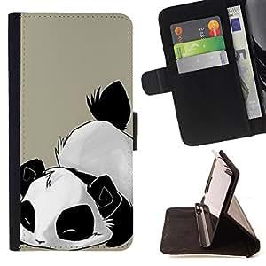 - Panda Cute Bear Animal - - Prima caja de la PU billetera de cuero con ranuras para tarjetas, efectivo Compartimiento desmontable y correa para la mu?eca FOR Samsung Galaxy Note 3 III N9000 N9008V N9009 King case