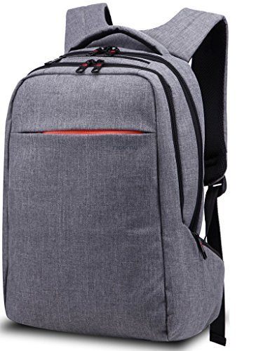 Shot Laptop Backpack - Unisex Lightweight Travel Grey Canvas Rucksack School Backpack for 15 inch Laptop with Multifunction Pocket