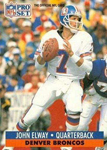 John Elway Football Card (Denver Broncos Hall of Fame) 1991 Pro Set #138