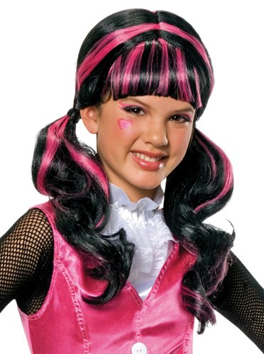 [Monster High Child's Draculaura Costume Wig] (Fun Cheap Easy Halloween Costumes)