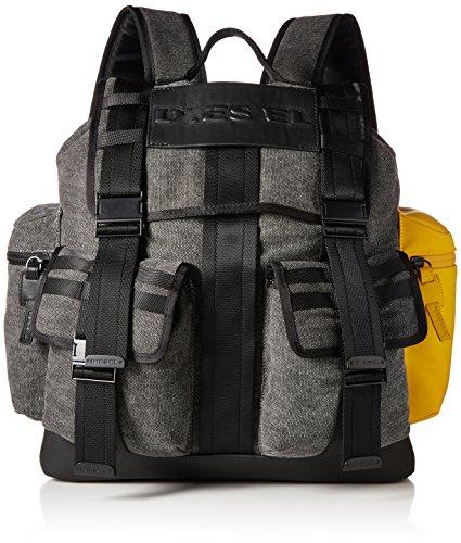 Diesel Men's Bag M-CAGE Back-Backpack, anthracite/golden rod, One Size