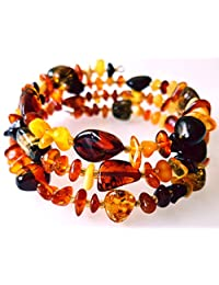 Multicolor Baltic Amber Bracelet / Adult Women / Anti-inflammatory / Anklet for Women / Certified Baltic Amber