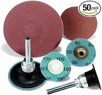 50 Pack United Abrasives-SAIT 55279 SAIT-Lok-R ZH 3-Inch 40X Laminated Disc