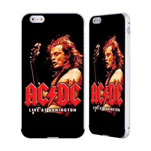 Officiel AC/DC ACDC En Direct À Donington Art D'album Argent Étui Coque Aluminium Bumper Slider pour Apple iPhone 6 Plus / 6s Plus