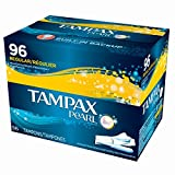 Tampax Pearl Regular Unscented Tampons, 96 ct. (pack of 6)