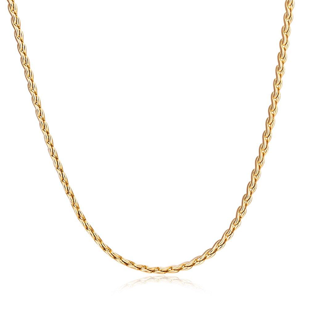 OULII signore moda classic Luxury Golden collana catena (xl0022della JM)