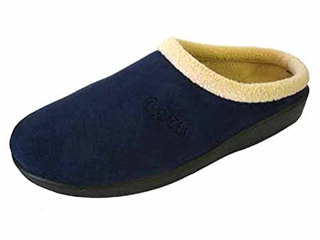 cac6d8cccd2a3 Comfy Dutch Clog Slippers in Blue: Amazon.co.uk: Shoes & Bags