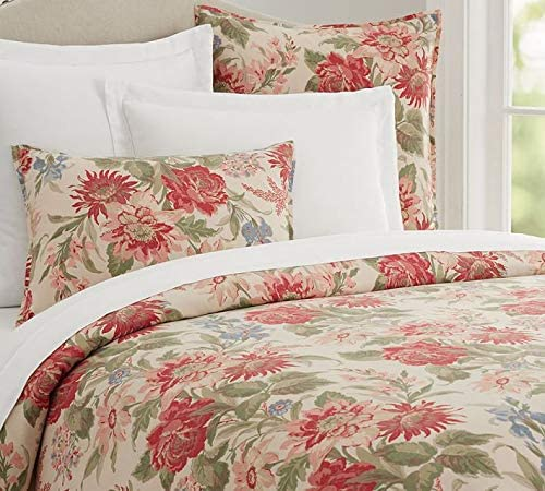 Pottery Barn Marla Duvet Cover Set Queen 2 Standard Shams Floral 3pc New