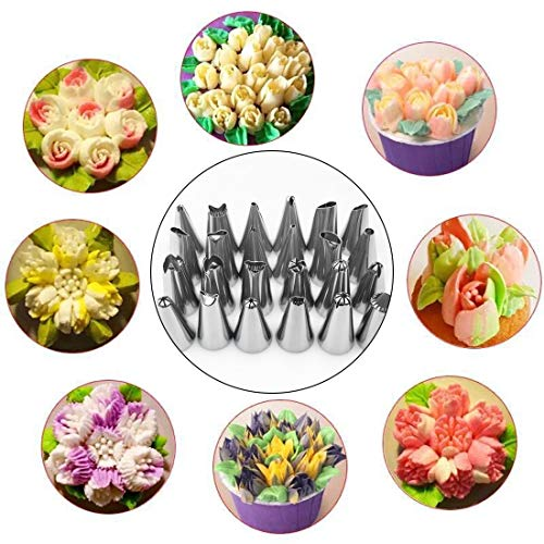 Pop Stick - Pop 52 Pcs Russian Tulip Icing Piping Nozzles Korean Style Pastry Tips Cake Decoration Dessert - Tips Small Icing Pastry Large Decorating Piping Nozzles Cake