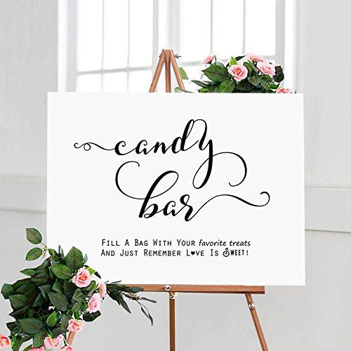 Amazon.com: Candy Bar Sign Fill A Bag with Treats Candy Buffet Bags ...
