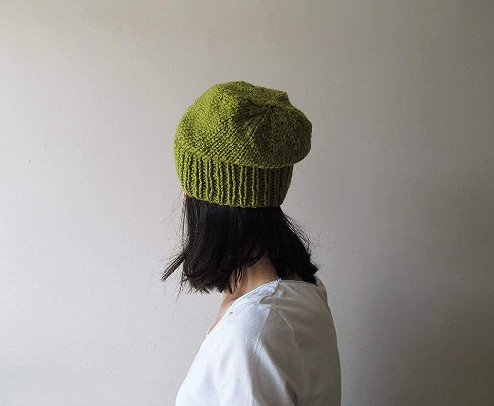 Ladies Hats Green Slouchy Beanie Green Womens Hat Ski Hats Teen Slouchy Hat MarlowsGiftCottage Olive Green Slouch Hat Winter Fashion