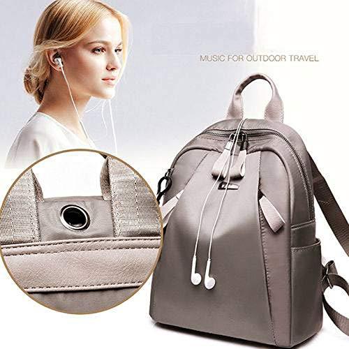 grey Cuero Mujeres Hombro bolso Bolso Las mochila De La Gaoqq Escuela Mochila Viaje Grey Pu wYBOxpHn