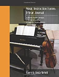 Music Instruction Forms: 1-Year Journal