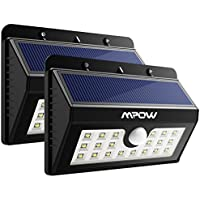 2-Pack Mpow Solar 20 LED Lights Outdoor