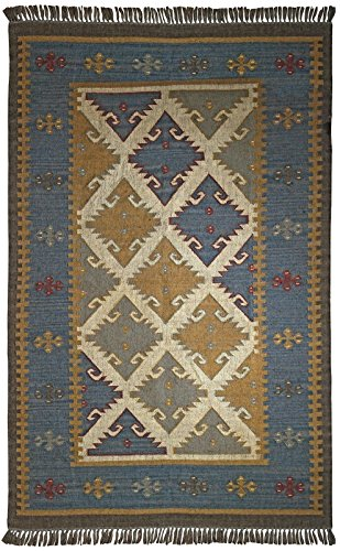 St Croix Trading Southwestern/Lodge Rectangle Area Rug 9'x12' Blue-Grey Hacienda Collection