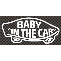 ステッカータウン VANS風 BABY IN THE CAR ベビーインカー A ホワイト