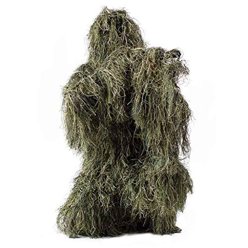 A&DW 4 pcs Ghillie Suit - Woodland Camo Camouflage Ghillie Burlap Suit