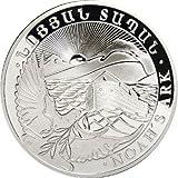 2016 1 OZ ARMENIAN SILVER NOAH'S ARK COIN (bu) roll of 20 NEW .999