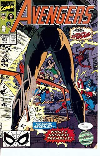 Stan Lee Signed Autographed Comic Book Avengers #315 w/Spider-Man JSA V67786