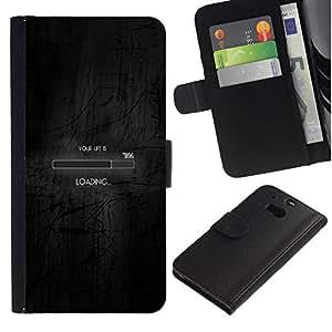 NEECELL GIFT forCITY // Billetera de cuero Caso Cubierta de protección Carcasa / Leather Wallet Case for HTC One M8 // CARGA BAR