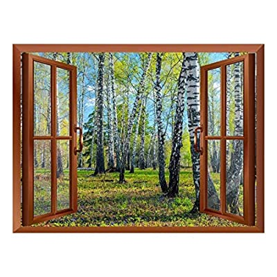 Wall26 - Spring Forest Removable Wall Sticker/Wall Mural - 36