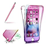 Full Coverage Case For Samsung Galaxy S8, Girlyard Full Body Protective Case Cover For Samsung Galaxy S8, All-around Ultra Slim Flexible Gel TPU Bumper Case For Samsung Galaxy S8 -- Gradient Pink / Purple
