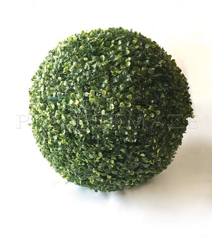 "Perfect Maze Boxwood Ball 19"" 1PC Perfectmaze Ball-Shaped Artificial Topiary Sphere Pomander Orb Indoor Outdoor Centerpiece for Wedding Home Décor"