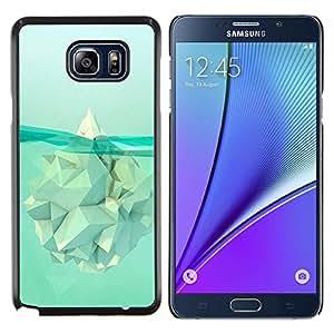 YiPhone /// Prima de resorte delgada de la cubierta del caso de Shell Armor - Iceberg Calentamiento Significado Polígono - Samsung Galaxy Note 5 5th N9200