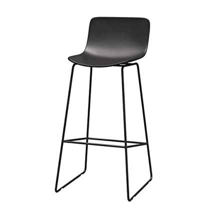 JHome-Barstools European Modern Minimalist Contemporary Barstools Iron Chair High Stool Suitable for Kitchen Dining