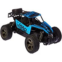 King Cheetah Remote Control RC Toy Blue Rally Buggy Car 2.4 GHz 1:18 Scale Size w/ Working Suspension, Spring Shock Absorbers
