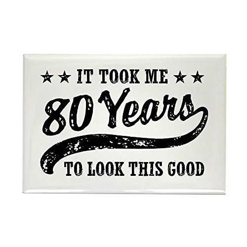 CafePress Funny 80Th Birthday Rectangle Magnet, 2
