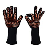 Heat Resistant Gloves ,iBanana Garden or Outdoor Heat Resistant Gloves ( Up To 932? ) For Home / Festival BBQ / Cooking / Oven Mitts / Pot Holders / Bake / Grilling -14'' maximum protect forearm.