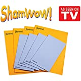 The Original Shamwow - Super Absorbent Multi-purpose Cleaning Shammy (Chamois) Towel Cloth, Machine Washable, Will Not Scratch, 8 Piece Set