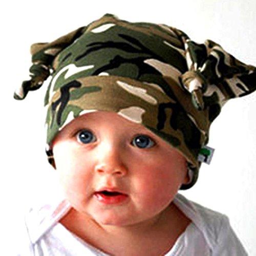 Binmer(TM) Toddler Infant Long Ears Turtleneck Cap Horn Knotted Baby Beanie Hat (Infant Long Cap)