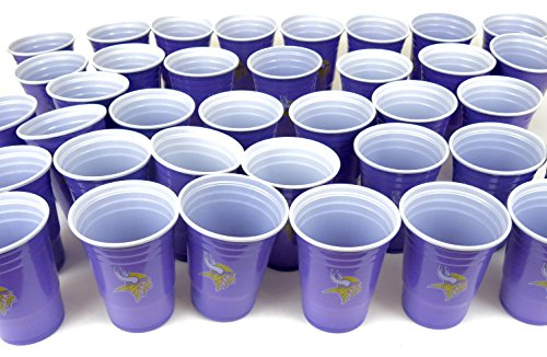 Minnesota Vikings barbecue cookout 4th of July Jumbo party cups set of 36. Large plastic colorful 18 oz. game day plastic cups ()