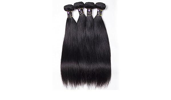 Brasil real pelo cortina cortinas de pelo recto brasileño peluca natural sedoso recto negro pelo europeo , 30 inch: Amazon.es: Belleza