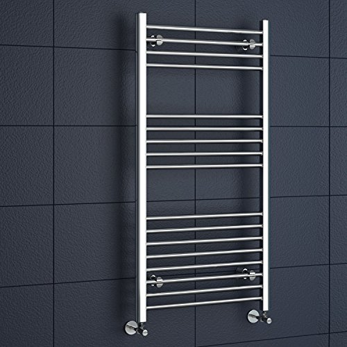 iBathUK | 1200 x 600 Straight Heated Towel Rail Chrome Bathroom Radiator - All Sizes by - Towel Heated Rail Straight