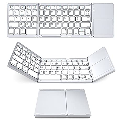 d00f873a8b0 Foldable Keyboard with Touch Pad, IKOS Tri- Folding Portable Keyboard for  iPhone iPad Samsung