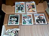 1987 Topps Football complete set w/ Randall Cunningham rookie, Doug Flutie RC, Jim Kelly RC, Jerry Rice 2nd year card, Dan Marino, Walter Payton, football trading card set
