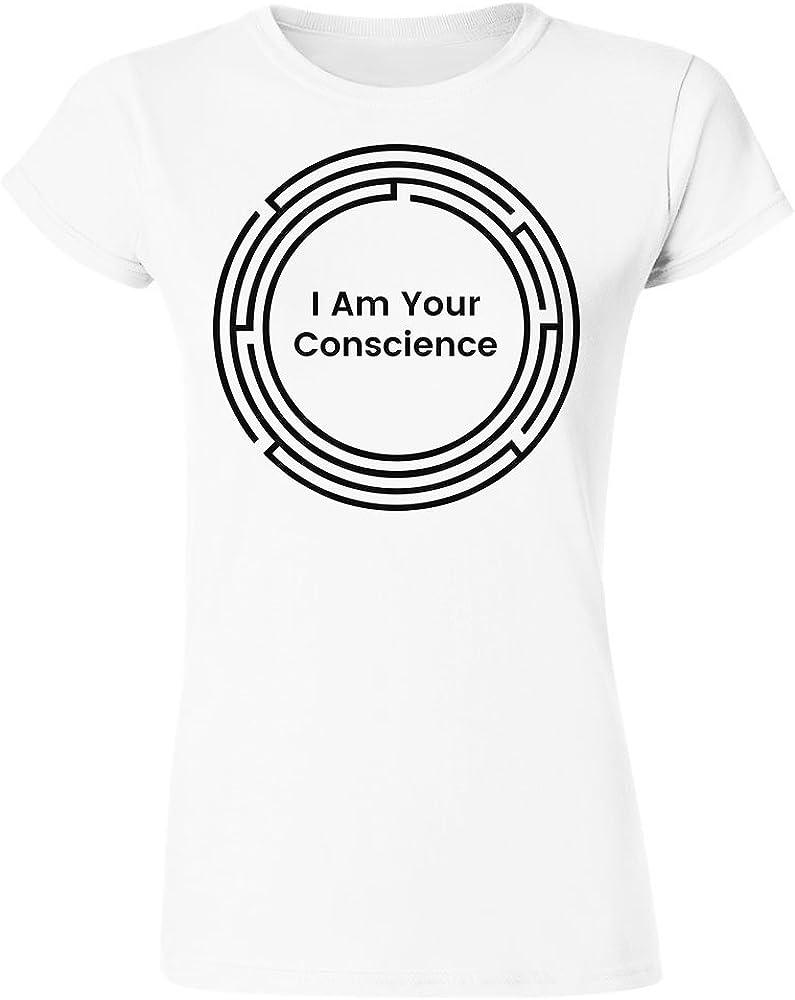I Am Your Conscience Round Maze Design Womens T-Shirt